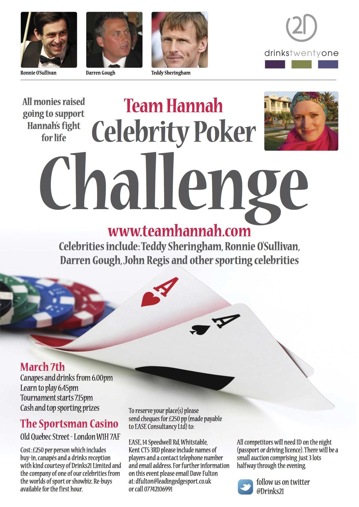 Team Hannah Poker Challenge